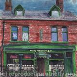 Penny Lane Wine Bar, Liverpool - mixed media mono print