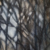 detail of Winter Light - oil on canvas