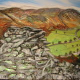 """ Lake District "" - mixed- media on canvas"