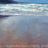 'Porthtowan January Series II' - Oil~Ink on Card