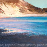 'Lulworth Cove' - Oil~Ink on Card