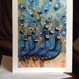 Peacocks greetings card - 