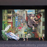 Year of the Monkey - Collage in a Box Frame (3D Effect)