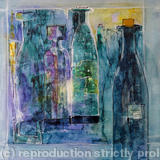 Bottle Bank - watercolour on canvas