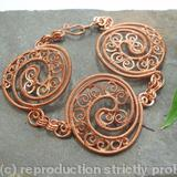 Boudica - Triple Celtic Disc bracelet - Copper wire