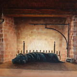 Fireside Comfort 1 - Oil on Canvas Board
