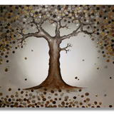 Golden Tree Of Tranquility - Mixed Media on artist quality primed deep edge canvas