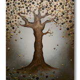 Golden Tree Of Serenity - Mixed Media on artist quality, primed, deep edge canvas. FREE UK P+P