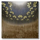 Golden Poppies - Mixed media on Artists quality, primed, deep edge box canvas. FREE UK P+P