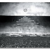 Shimmering Silver Seascape Commission (FREE P+P) - Mixed Media on deep edge box, primed canvas
