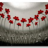 Red Poppy Landscape Gathering - Mixed media on gallery quality, primed, deep edge canvas