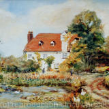 Burley Mill Sudbury Suffolk - Oil on board