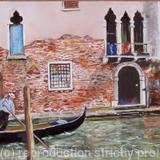 The Gondolier - Oil on board