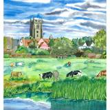 Cattle Grazing, Sudbury Water Meadows (Artist's Ref 0911CA) - Giclee Print