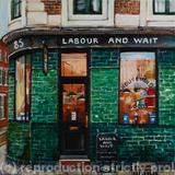 Labour and Wait - Acrylic on box canvas