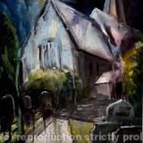 Alciston Church Remembered - Mixed Media