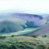 399 Cautley Spout and the Howgills - pastel