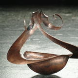 Spiral 2-arm bowl - Copper
