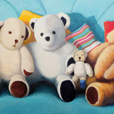 Teddies - Oil on canvas