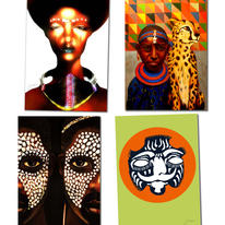 hidden Africa Greetings Cards