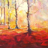 Autumn Woodland (Morning) 1 - Acrylic