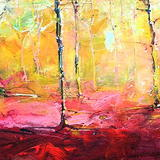 Autumn Woodland (Morning) 7 - Acrylic