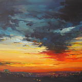 First Light, City Lights 1 - Acrylic
