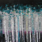 TWENTY BIRCHES - Acrylic on Box Canvas