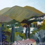 Toward Grasse - oil on board
