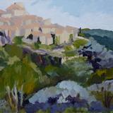 Tourettes sur Loup - oil on board