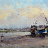 Low tide at Rye - Oil