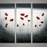 Vincent Poppies - Acrylic on canvas