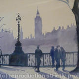 london walk - watercolour