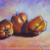 Yellow Peppers - Acrylic on box canvas