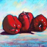 Red Peppers - Acrylic on box canvas