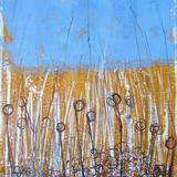 Wheat Field - oil on paper/indian ink