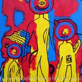 3 Wise Men and an Interloper - Acrylic on canvas board