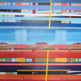 Abstract Uluru Triptych - Acrylic on board x 3