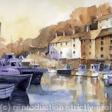 POLPERRO DAWN - watercolour on Arches Aquarelle