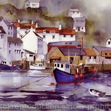 POLPERRO HARBOUR - watercolour on Arches Aquarelle