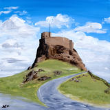 Lindisfarne Castle - Acrylic on deep edge box canvas