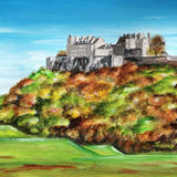 Stirling Castle in Autumn - Acrylic on Paper, mounted