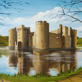 Bodiam Castle, East Sussex - Oil on box canvas