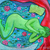 Sleeping lady - Oil on canvas