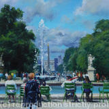 Tuileries fountain, Paris - Acrylic on canvas