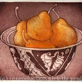 Pears - Etching