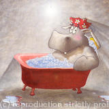 Hippo Bath Day - Limited Edition Print