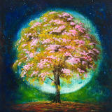 Aura Tree - framed giclee card
