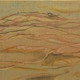 Landscape contours - Ink on natural linen canvas