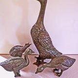 Duck family - Bronze resin